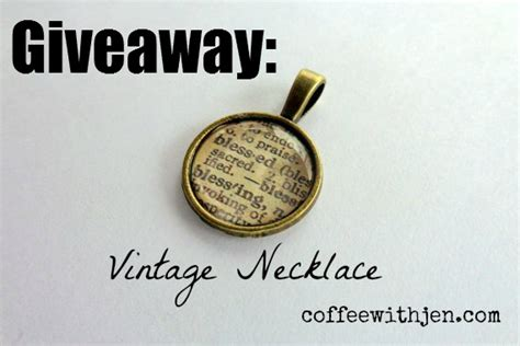 Is Giveaway One Word - my one word necklace this month s giveaway coffeewithjen