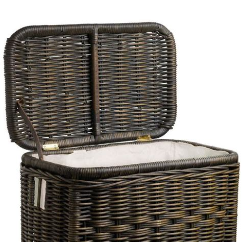 Fabric Liner For Narrow Rectangular Wicker Laundry Her Wicker Laundry With Liner