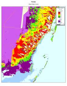 elevation map of florida more sea level rise maps of florida s atlantic coast