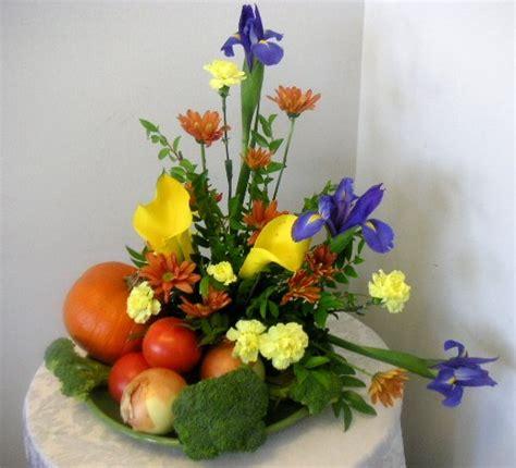 flower arrangements design floral arrangement with fruits and vegetables called