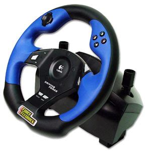 Logitech Steering Wheel Pc Drivers Logitech Driving Playstation 2 Wheel And Pedals Usb