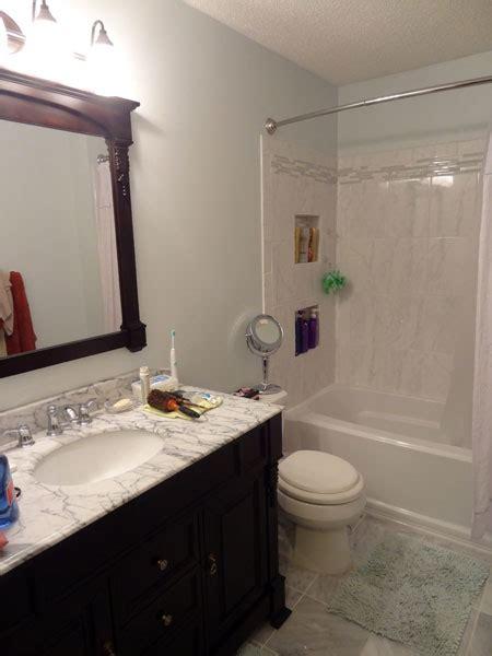 Moen Terrace Kitchen Faucet art deco bathroom lighting with transitional shower nook
