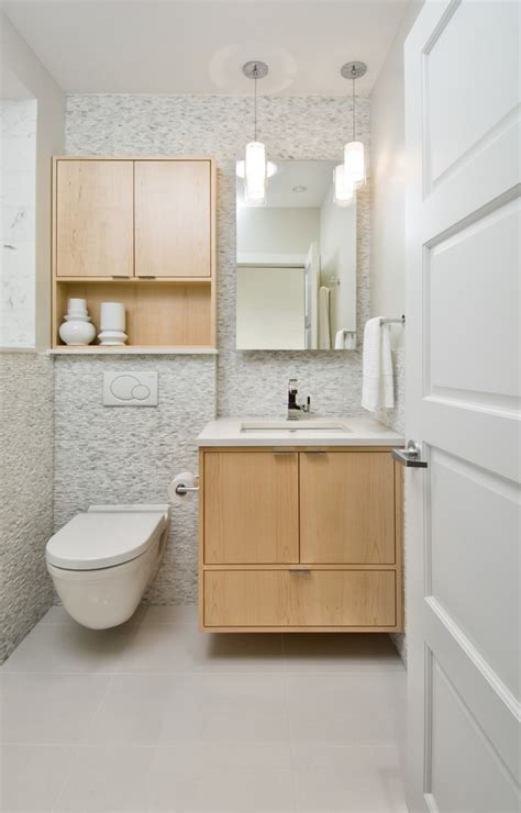 bathroom toilet cabinet with contemporary pendant
