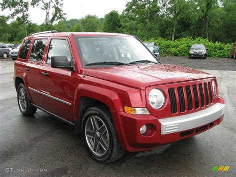 red jeep patriot 2008 red crystal pearl jeep patriot limited 13373671
