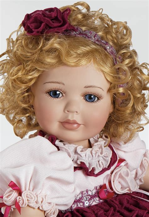 r b porcelain doll collectible porcelain doll ruffles roses from