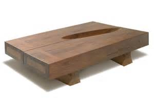 Bench Square One Solid Wood Coffee Table With Natural Details To Ornament
