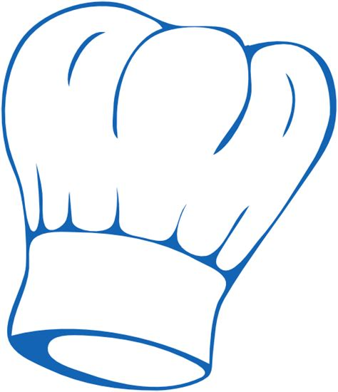 chef clipart chef hat blue clip at clker vector clip