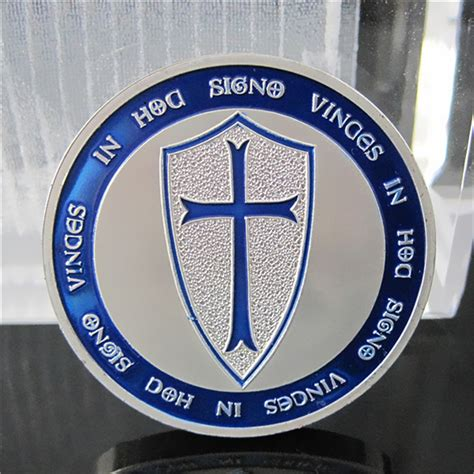 Koin Cross Crusader Knights Templar Putih Silver Commemorative Coin 40 3mm blue knights templar souvenir coin crusaders cross