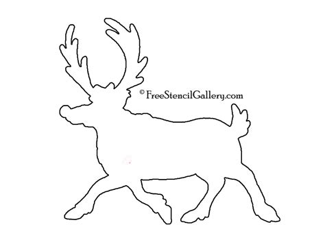 printable reindeer stencils reindeer stencil printable images