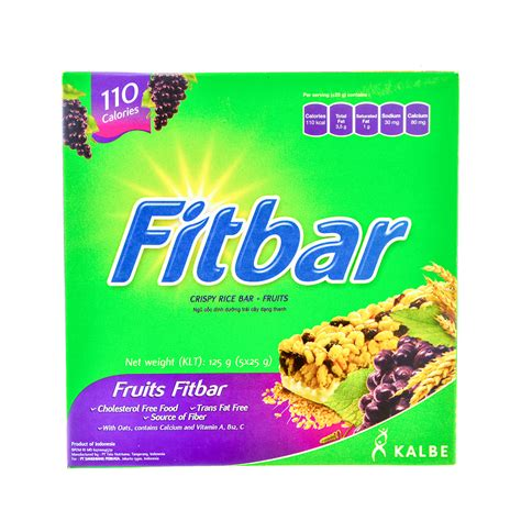 fitbar fruits 25g fitbar crispy rice bar fruits fresh groceries delivery