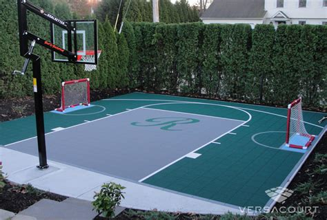 Build A Basketball Court In Backyard by Onelawn Backyard Multi Court Installations