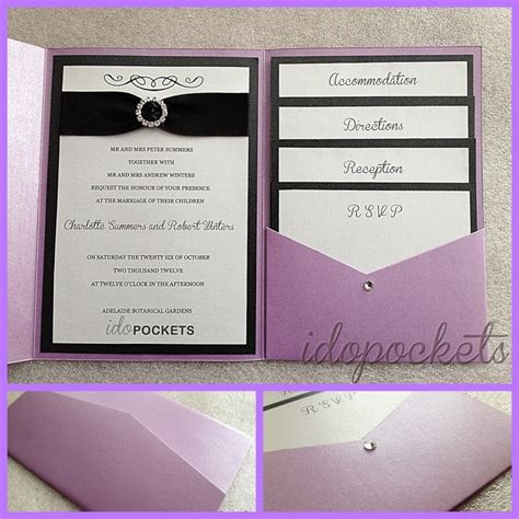 wedding invitation with pocket pocket fold wedding invitations diy envelopes invite