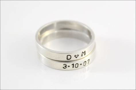 stacked rings personalized sterling silver