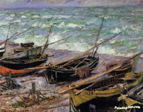 fishing boat art work fishing boats artwork by claude oscar monet oil painting