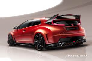Honda Civic News New 300hp Honda Civic Type R Concept Teased Before Geneva