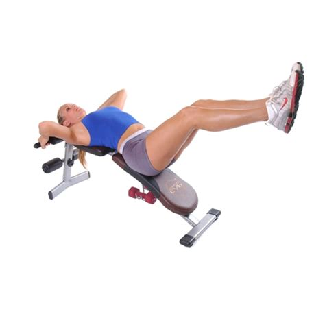 bench leg raises adjustable 4 position incline decline flat upright fitness