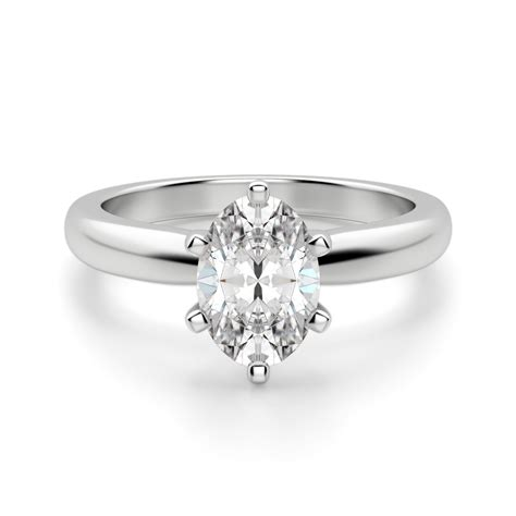 engagement rings solitare tiffany style 6 prong