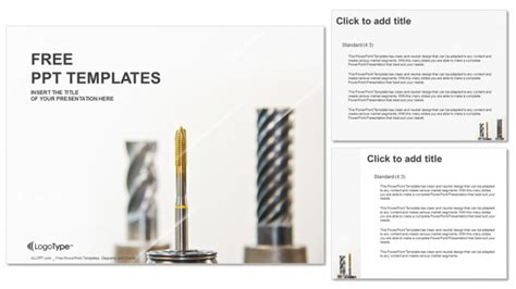Milling Machine Industry Powerpoint Templates Powerpoint Templates For Machines