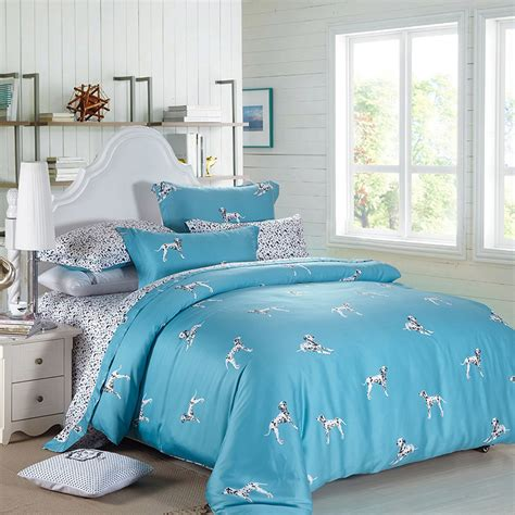 cool bedding sunnyrain 4 pieces dalmatian bedding set king queen size