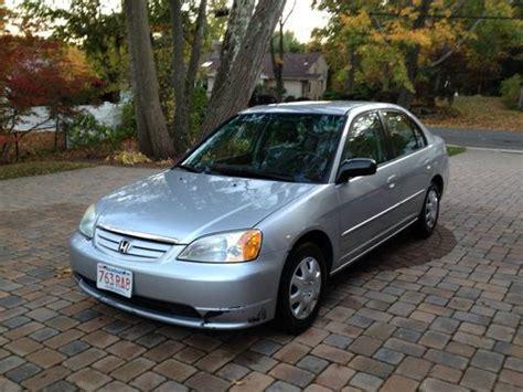 sell used 2002 silver honda civic lx 4 door sedan