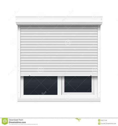 eps format öffnen windows vector window with rolling shutters stock vector image