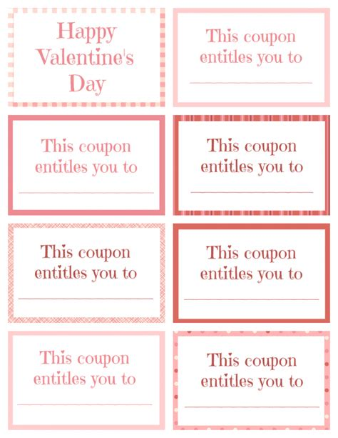 Printable Blank Coupons
