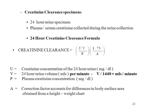 creatinine urine mg dl clinical chemistry chapter 9 ppt
