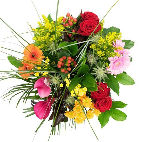 Gemengd Boeket Met Prachtige Bloemen En Een Cadeaukaartje