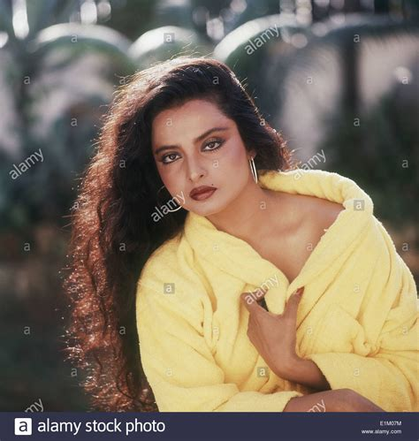 movie actress rekha portrait of indian film actress rekha stock photo