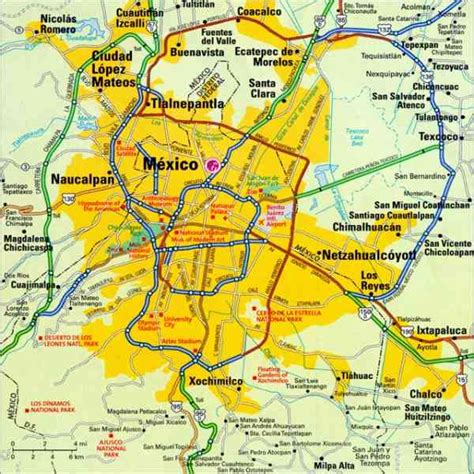 mexico city on a map map of mexico city 187 travel