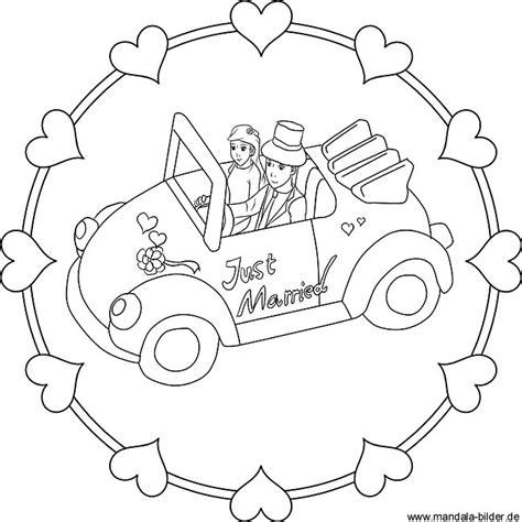 Ausmalbild Auto Just Married by Ausmalbild Brautpaar Just Maried Malvorlage Hochzeitspaar