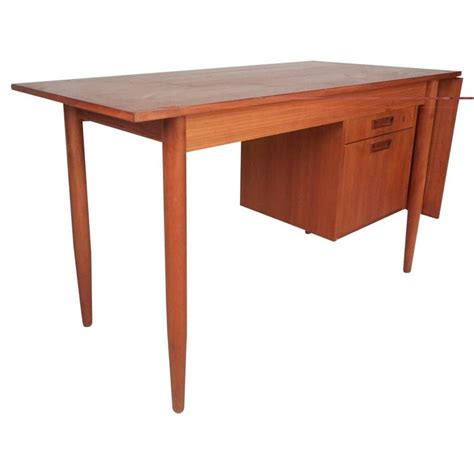 Mid Century Modern Desks For Sale Mid Century Modern Arne Vodder Style Slide Top Teak Desk For Sale At 1stdibs