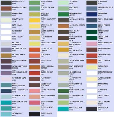 spray paint color choices valspar rustoleum and krylon diy paint colors copper