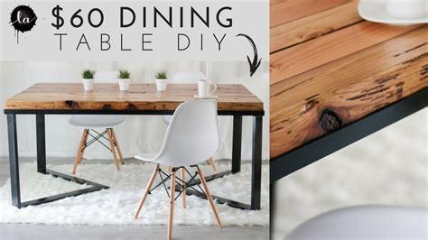 diy scandinavian dining table wood metal
