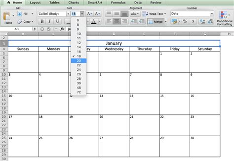how to make a yearly calendar in excel 2010 make a 2018 calendar in excel includes free template