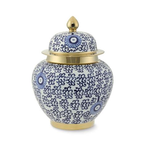 jar ginger ginger jar with gold detail williams sonoma