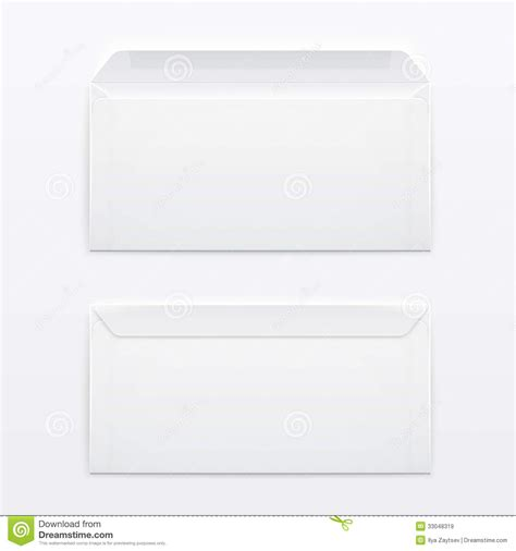 printable envelope vector blank envelopes on gray background royalty free stock