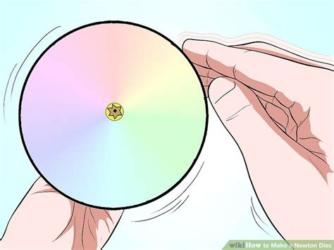 How To Make A Paper Disc - how to make a newton disc 12 steps with pictures wikihow