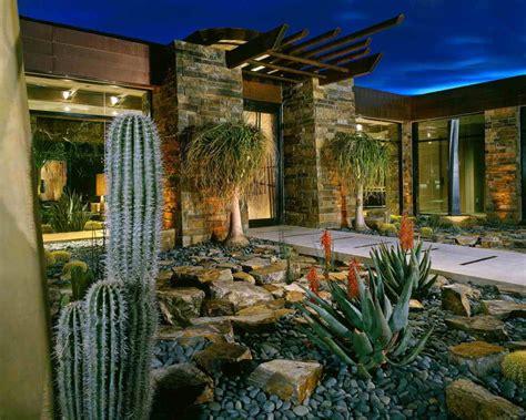 contemporary landscape design house residence rusnak