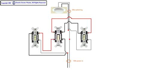 need diagram for 4 way switch with feed and switch leg in
