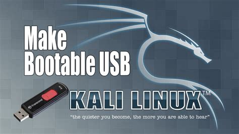 how to make a bootable kali linux usb flash drive pendrive how to make bootable linux usb kali linux youtube