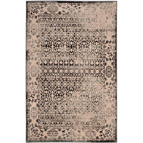 safavieh brilliance cream dark gray 4 ft x 6 ft area rug