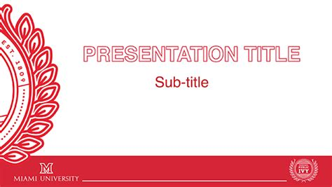 ppt title slide template powerpoint templates the miami brand ucm miami