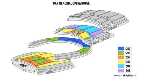 san francisco war memorial opera house seating san francisco war memorial opera house seating chart