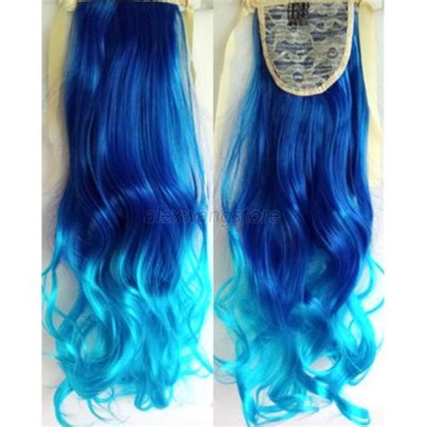 Hair Clip Ombre Curly chic ombre wavy curly ponytail clip in hair dip dye