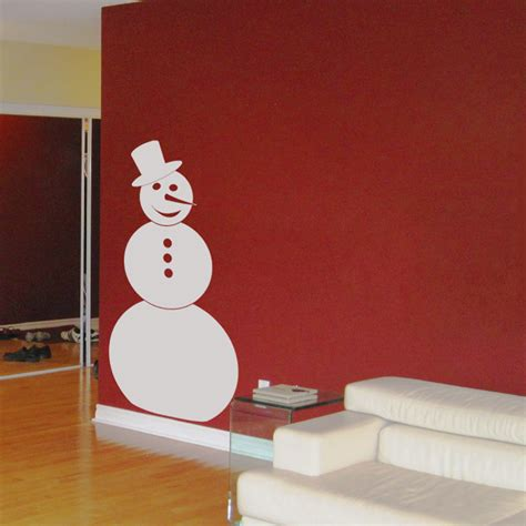 Holiday Wall Stickers snowman winter holiday wall decals