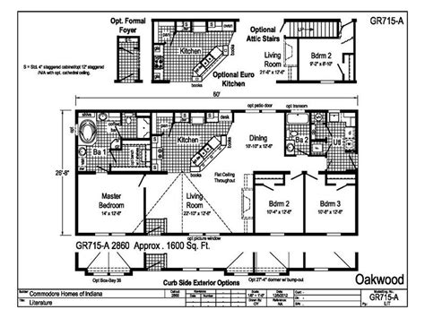 southern oak mobile home floor plans