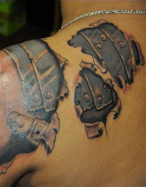 tattoo 3d armor 53 amazing armor shoulder tattoos