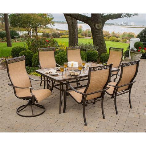 shop hanover outdoor furniture monaco  piece bronze stone