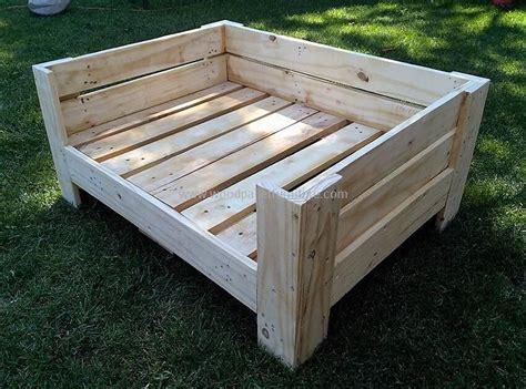 dog bed made from pallets diy wooden pallets dog bed plan wood pallet furniture
